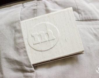 Vow Book - Wedding Pocket Vow Book - Personalized Monogram Pocket-sized Keepsake Holder