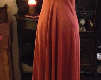 Gadsby themed burgundy red lace and ribbon nightgown size small