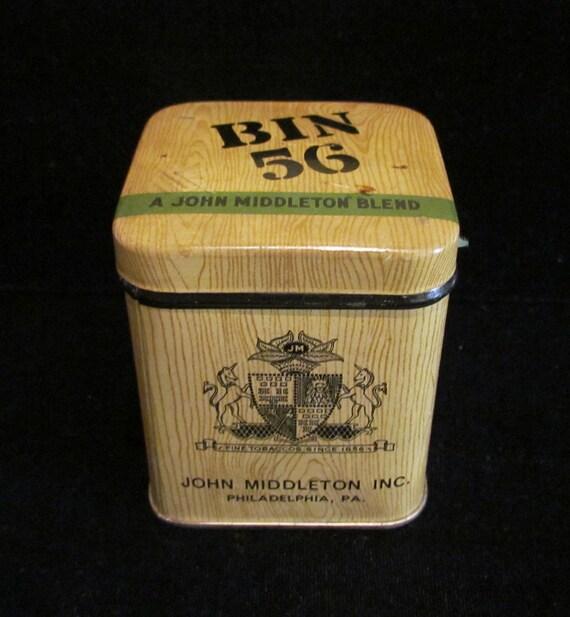 1920s Vintage Tobacco Tin John Middleton Inc. Bin 56 Tobacco Empty Tin Excellent Condition