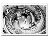Sistine Chapel Staircase Photo, Vatican City, Black and white photography, 8x12, Golden Spiral, Fibonacci Spiral