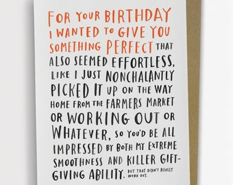 Awkward Birthday Card by Emily McDowell / 136-C