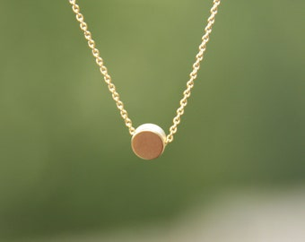 solitaire necklace, minimalist jewelry, minimalist necklace, everyday necklace