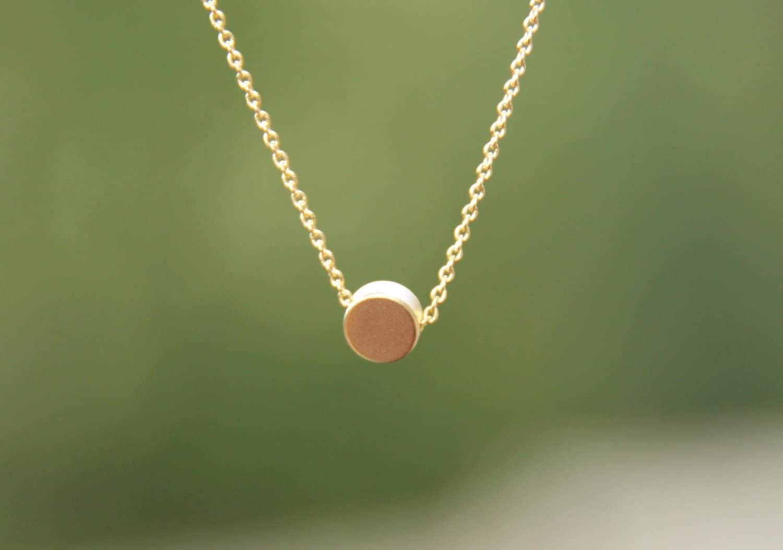 Foyer Minimalist Jewellery : Solitaire necklace minimalist jewelry