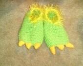 Crochet Kid's Dinosaur Slippers