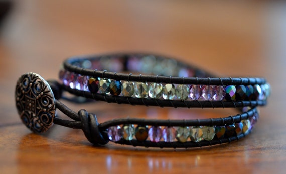 Peacock Crystal Double Wrap Bracelet