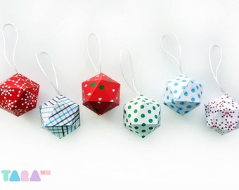 DIY Christmas Balls, Set of 6 Printable Cutout, Printable Christmas Ornament, DIY Paper Toy, TaraBalls, Educational Toy, Instant Download
