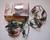 CHRISTMAS Holly Lites Lights with  Bulbs C7 15 Indoor Multicolor Vintage