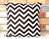Brown Chevron decorative pillow cover designer pillow cover accent pillow 18 inches square cushion cover