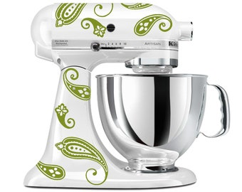 Elegant Paisley Stand Mixer Decals for your Kitchenaid  Stand Mixer- As Seen in The New York Daily News