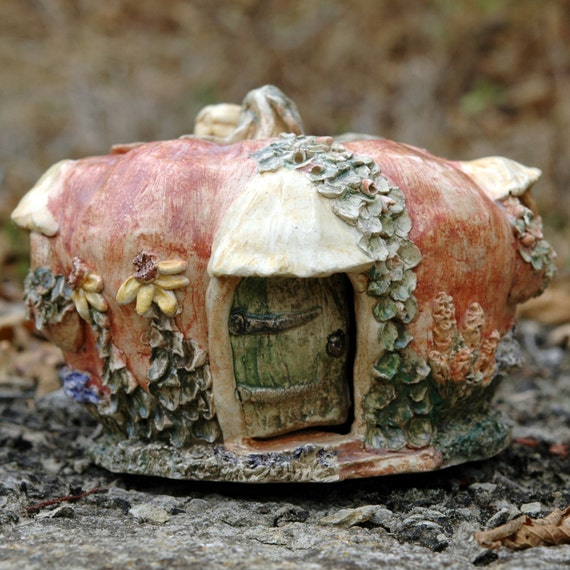 Whimsical Pumpkin Fairy Cottage