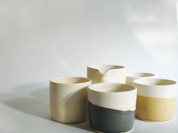 Experimental sample set, modern cup and pitcher set in neutral, if you are feeling adventurous...Excavation series