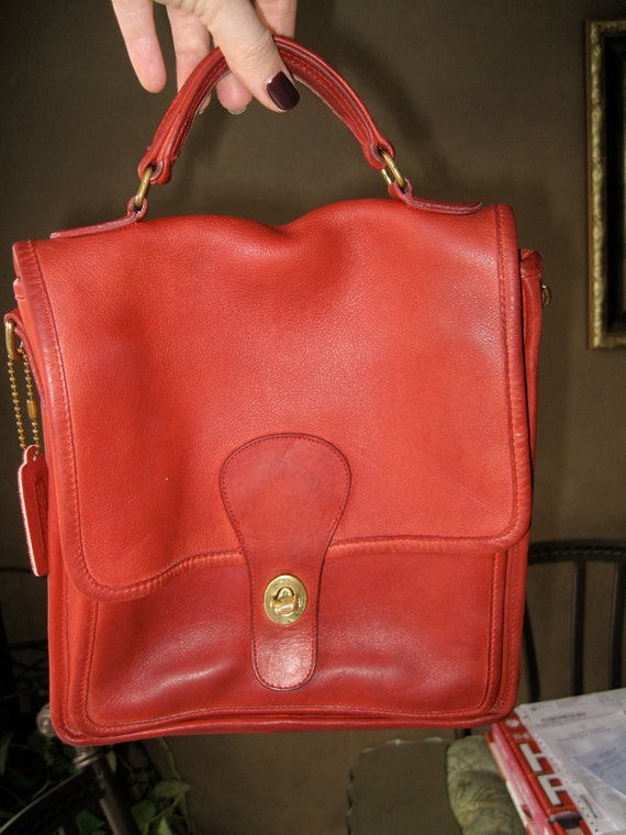 Reserved for Whitney Brewer: Authentic Vintage Red Leather Coach Bag