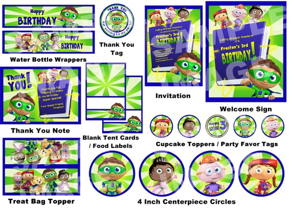 Super Why Party Package Pbs Kids Super Why Party Package