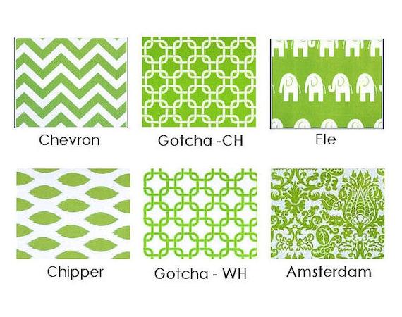 Throw pillow cover chartreuse lime green chevron gotcha chipper elephants pillow sham cushion cover