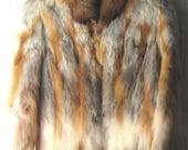 Vintage 70's red fox coat  Winter Fur Coat