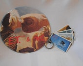 Vintage E.T. & Gertie (Drew Barrymore) Pin AND ET Keychain