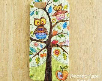 Owls and Birds iPhone case iPhone SE case iPhone 6S case iPhone 6 case iPhone 6S Plus case iPhone 6 Plus case iPhone 5S case iPhone 4S case