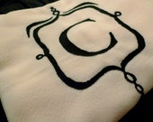 A Cozy Gift for someone special - custom monogram fleece blanket/throw in your choice of color