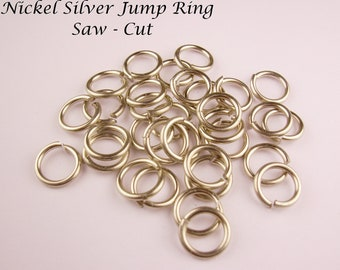 Nickel Silver Solid Jump Ring 16Ga Wire 5mm I/d  70 pcs . Saw Cut Made In USA