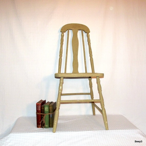 Antique Wooden Kitchen Chairs: RESERVED FOR DIANE Antique 1930's Wood Taper Back By