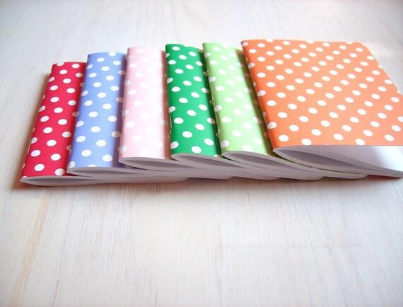 "Small Journal: Valentine's Day, Polka Dots, Little Notebook, Sketchbook, Pocket Journal, Blank, Jotter, Pick 1 - 4.25x5"""