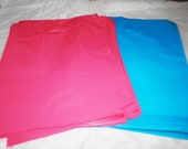 100 12x15 Glossy Pink and Blue Plastic Merchandise Bags Handle Retail Gift Bags wholesale lot
