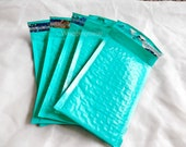 10 Pack Teal 4x8 Bubble Mailers, Padded envelopes Mailing Shipping Envelopes