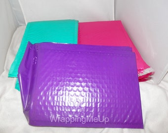 30 pack Pink Purple and Teal 6x9  bubble mailers, padded envelopes