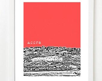 Accra, Ghana Poster - City Skyline Series Art Print - Africa