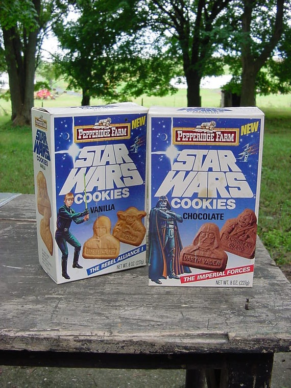 vintage Star Wars Pepperidge Farms Cookie boxes Rebel Alliance vanilla Imperial Forces chocolate