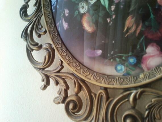 Metal framed florals