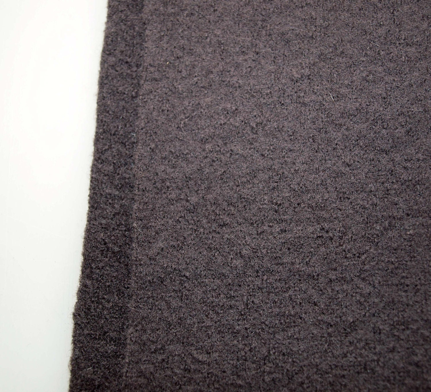 Reserved For Tanya Boiled Wool Fabric Brown Medium Weight