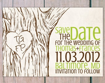 Save the Date - tree initial