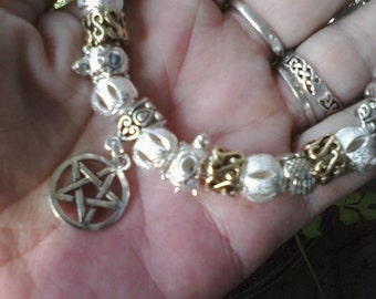 Pagan Wiccan, For Love of the wild ones, Euro style bracelet