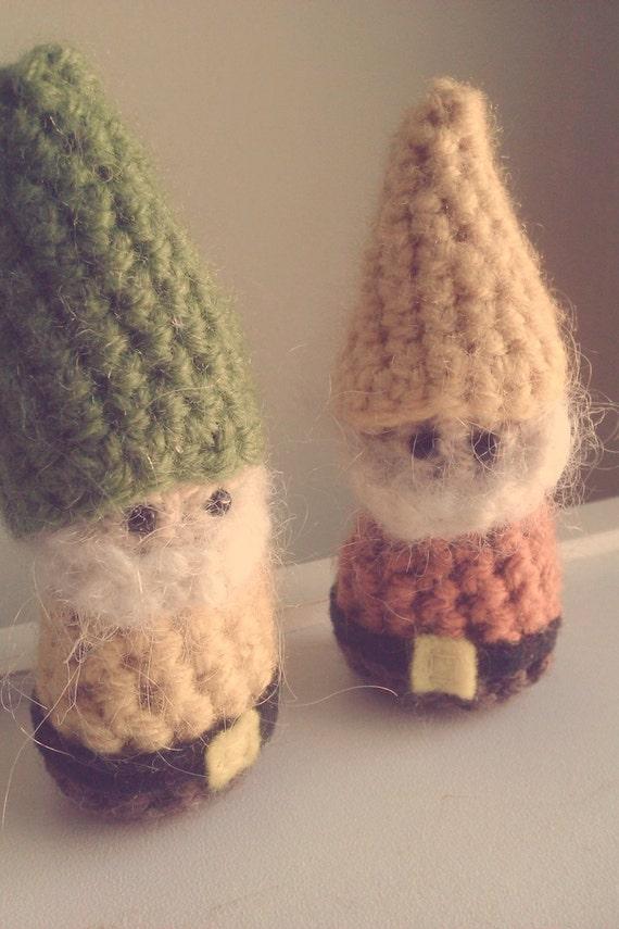 Gnome Crochet Stuffed Doll Toy Lucky Pocket Green Yellow Yarn
