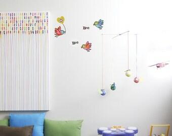 Love birds - kid wall decal