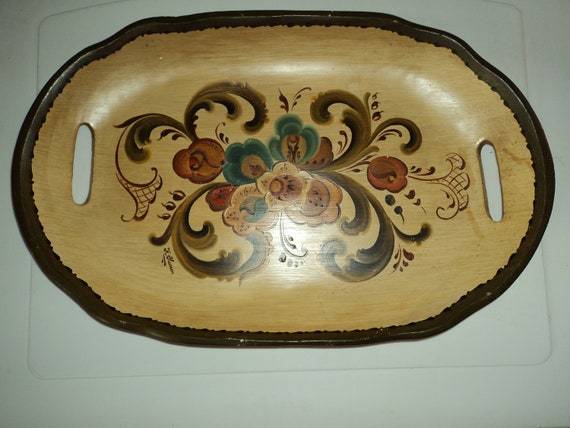Scandanavian wooden tray