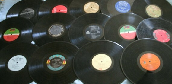 vintage vinyl records for crafting  33 1/3 rpm lot of 25 records