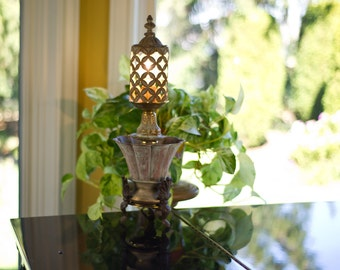 Recycled Lovely, Lacy, Lattice work Lamp