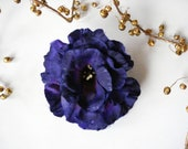 Deep Blue-Violet Flower Hair Accessory