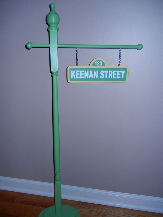 Personalized Sesame street inspired street sign double by ...
