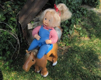 Ideal Kit and Koodle Doll/Horse , Vintage Ideal Doll, Vintage Ideal Horse, Vintage Doll and Horse, Vintage Toys, :)S
