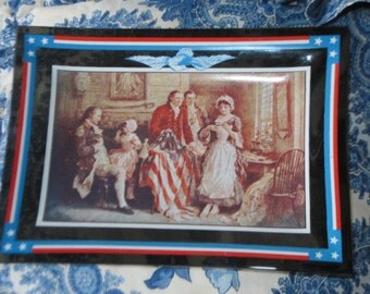 Souvenir Washington Crossing Penna The Birth of the Old Glory Plate made in the USA
