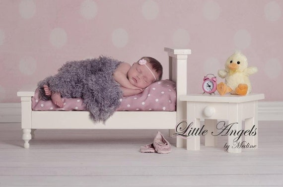 Sale Bed and Nightstand set Newborn Photography Prop