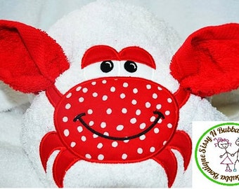 Crab Hooded Towel
