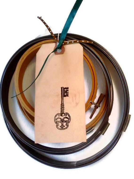 Vintage embroidery hoops metal and wood by weelambievintage
