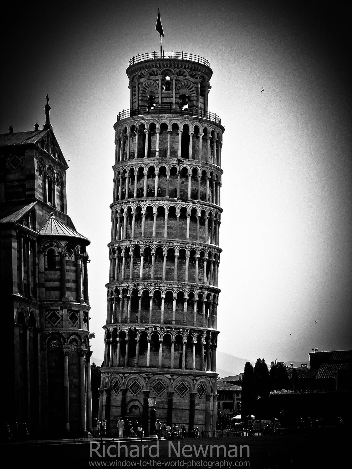 leaning tower of pisa italy historical architecture black