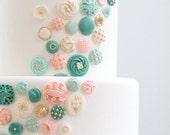 Edible Buttons Cake Decor: 100 ct.