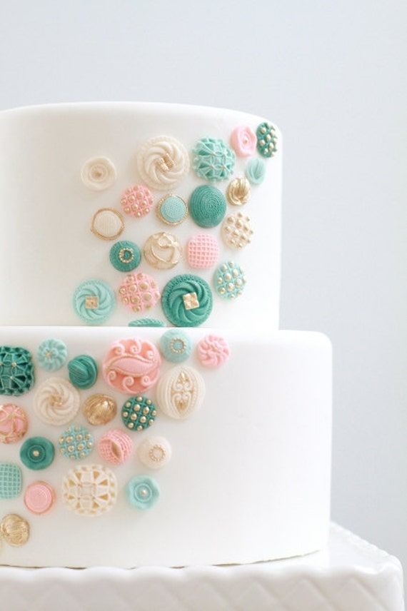 Etsy Cake Decorations : Items similar to Edible Buttons Cake Decor: 100 ct. on Etsy