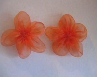 5-Petal Organza Flowers Orange In Color